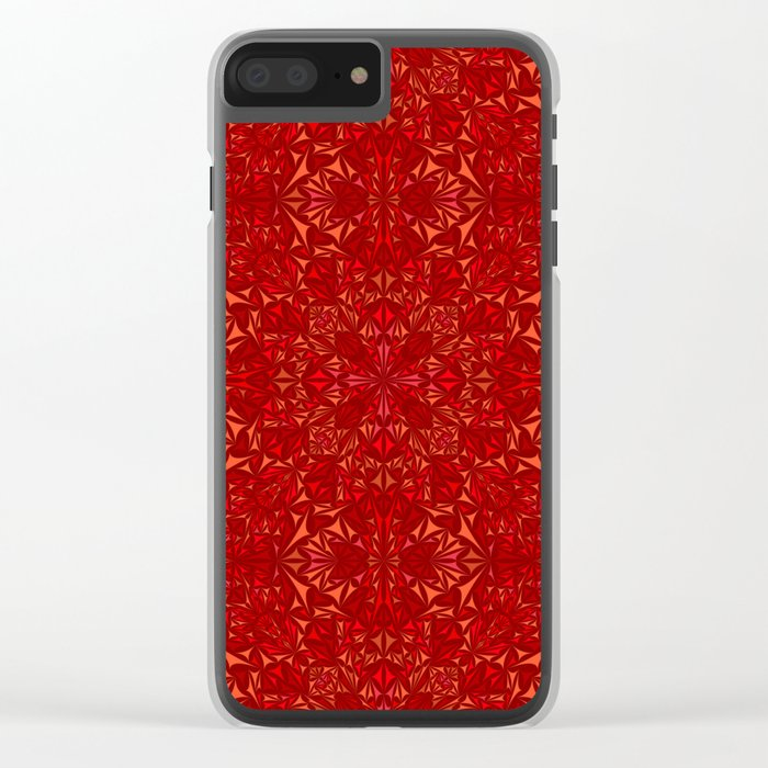 Red particles Clear iPhone Case