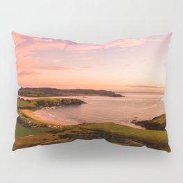 jacks bay new zealand beautiful colors at sunset farmland bay Pillow Sham
