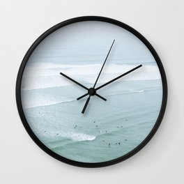 Tiny Surfers from the Sky 4, Lima, Peru Wall Clock