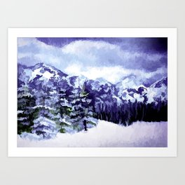 Winter In The Mountains Art Print