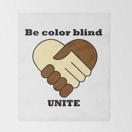 Anti racism theme Throw Blanket