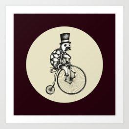 The Slow Bike Race Art Print