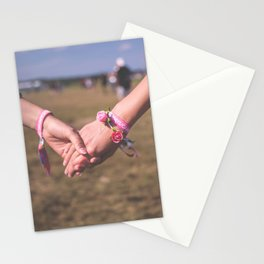 Women Holding Hands Stationery Cards