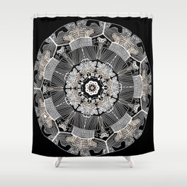 GoldenMandala Shower Curtain