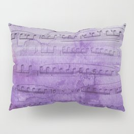 Soft Purple Music Pillow Sham