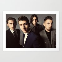 arctic monkeys Art Prints featuring Arctic Monkeys by lastminutebinge