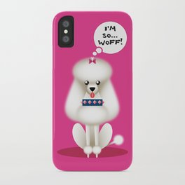 Chic Poodle iPhone Case