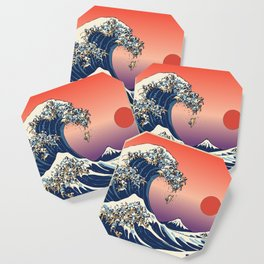 The Great Wave of Pug Coaster