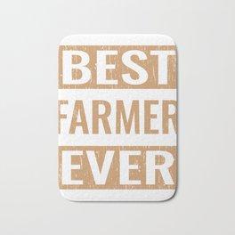 """Best Farmer Ever"" Gardening Shirt For Gardeners T-shirt Design Hobby Garden Tractor Farm Rake Bath Mat"