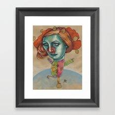 JUGGLING CLOWN Framed Art Print