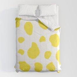 Yellow Cow Print Background Comforters