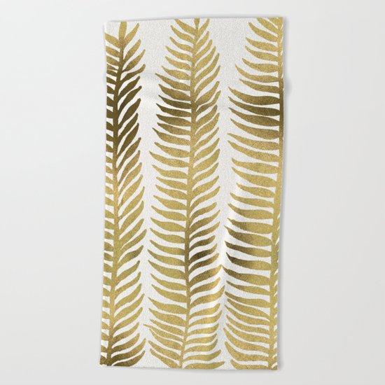Golden Seaweed Beach Towel