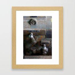Compound Screw Reverse Oil Daily Framed Art Print