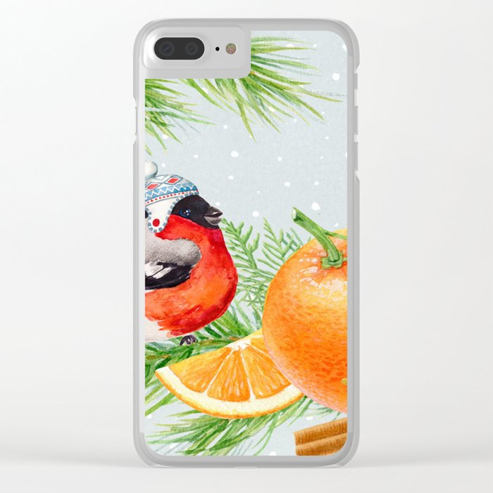 Winter animal #9 Clear iPhone Case