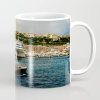 hercules Mugs featuring Cruising Port Hercules in Monaco by ExperienceTheFrenchRiviera