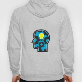 Head with Light Bulb and Cog Retro Hoody