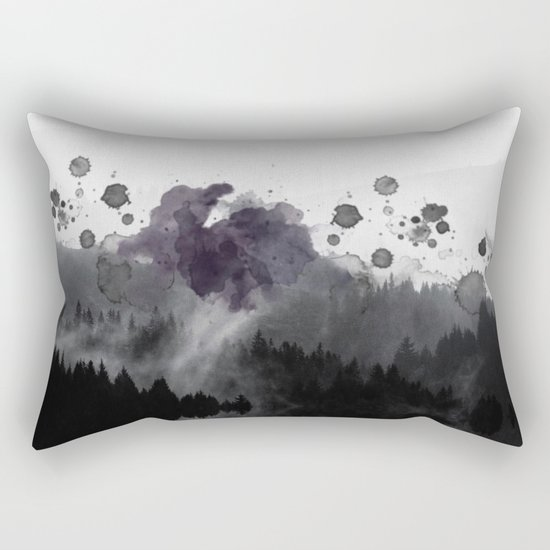 Watercolor forest reflections -abstract Rectangular Pillow