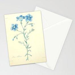 Flower linum narbonense17 Stationery Cards