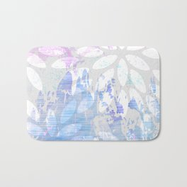Abstract Splash Flowers Design Bath Mat