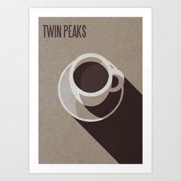 Twin Peaks Minimalist Coffee Poster Art Print