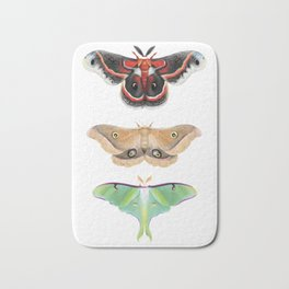 Giant Silk Moths - Digital Painting Bath Mat