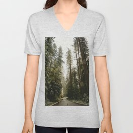 Redwood Forest Adventure III - Nature Photography Unisex V-Neck