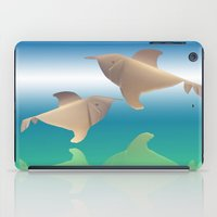 dolphins iPad Cases featuring dolphins by Ruud van Koningsbrugge