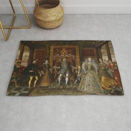 The family of Henry VIII Rug