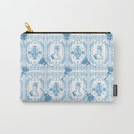 Marie-Antoinette Monogram (Aqua) Carry-All Pouch