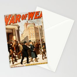 Vintage poster - The War of Wealth Stationery Cards