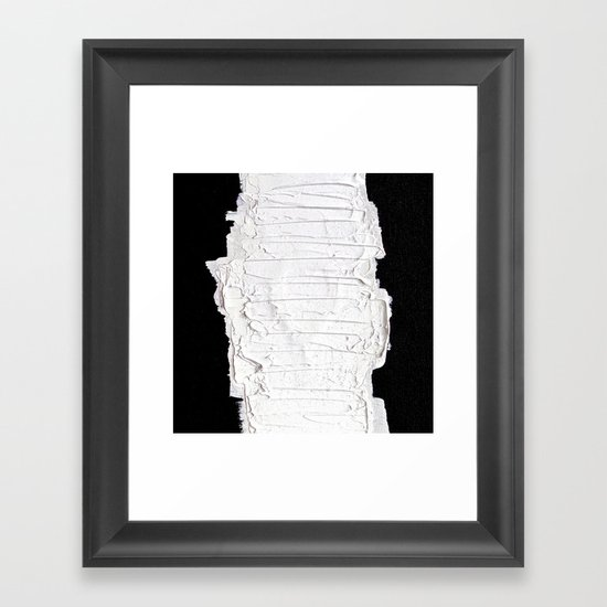 Black, White & White Framed Art Print