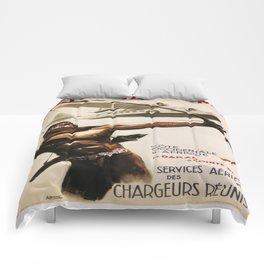 Vintage poster - Aeromaritime Comforters