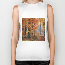 Colorful Autumn Fall Forest Biker Tank