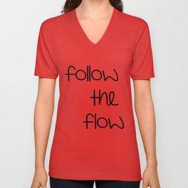 FOLLOW THE FLOW Unisex V-Neck