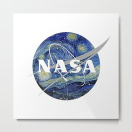 nasa starry night Metal Print