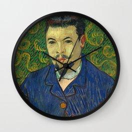 Vincent van Gogh - Portrait of Doctor Félix Rey Wall Clock