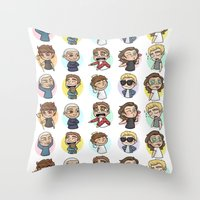 1d Throw Pillows featuring Emoji 1D by Cyrilliart