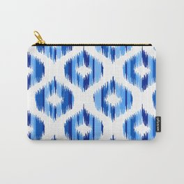IKAT pattern, indigo blue and white, 04 Carry-All Pouch