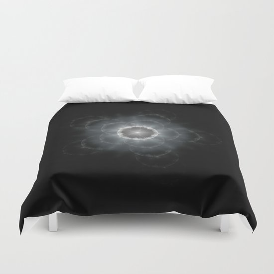 Space Flower Fractal Duvet Cover
