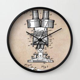 patent art Sabel Binocular Microscope 1926 Wall Clock