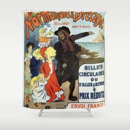 1896 Normandy Brittany Jersey travel ad Shower Curtain