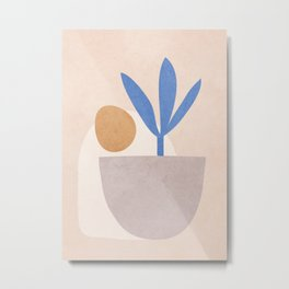 Little Pot Plant Metal Print