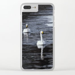 Swans Clear iPhone Case