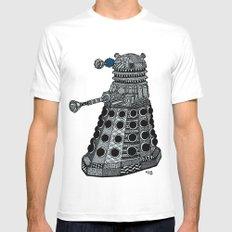 Dalek Mens Fitted Tee MEDIUM White