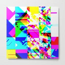 Glitch geometric pattern design artwork Metal Print