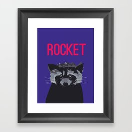 R IS FOR ROCKET, R IS FOR RACOON Framed Art Print