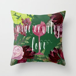 Wine Country Love Throw Pillow