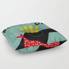 Black Dog Day Royal Crown Floor Pillow
