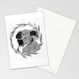 Yawning koala bear Stationery Cards