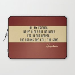 Those Were the Days Laptop Sleeve